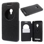 Mercury Goospery Wow Bumper View Leather Flip Cover for Asus ZenFone 5 (A500CG/A501CG), LTE (A500KL) - Black