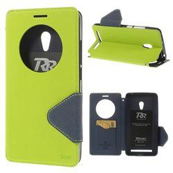 Roar Korea Diary Circle View Flip Cover for ZenFone 6 (A600CG) - Green