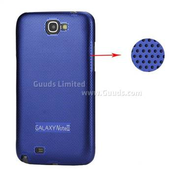 Metal Mesh Hard Case for Samsung Galaxy Note 2 / II N7100 Case - Blue