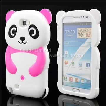 Cute 3d panda silicone case for for samsung galaxy note 2 for Case 3d online
