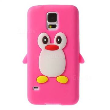 3d penguin silicone case for samsung galaxy s5 g900 rose for Case 3d online