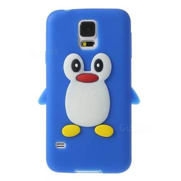 3d penguin silicone case for samsung galaxy s5 g900 dark for Case 3d online