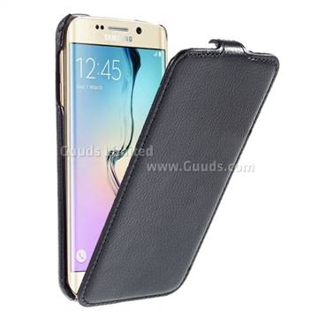 litchi leather vertical flip cover for samsung galaxy s6. Black Bedroom Furniture Sets. Home Design Ideas