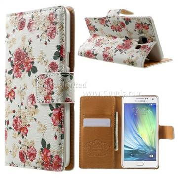 Cross Pattern Chinese Rose Leather Wallet Case for Samsung Galaxy A5 ...