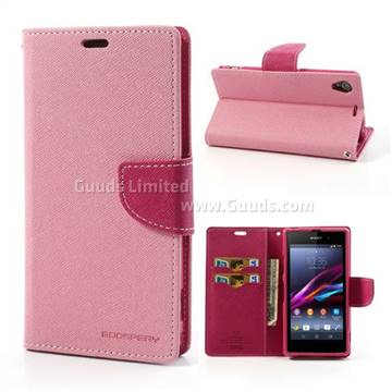 Mercury Goospery Fancy Diary Flip Cover for Sony Xperia Z1 C6903 C6902    Xperia L Fancy Cover