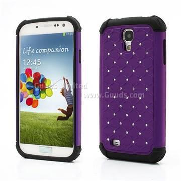 Rhinestone Stars Silicone and Plastic Hybrid Hard Case for Samsung ...