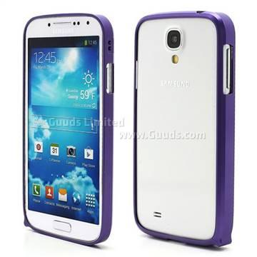 Ultra-Thin Premium Aluminium Metal Bumper Case for Samsung Galaxy S4 i9500 i9502 i9505 - Purple