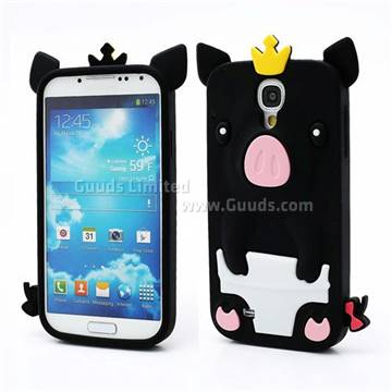 Cute 3d pig silicone skin case for samsung galaxy s 4 iv for Case 3d online