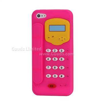 3d telephone pattern soft silicone case for iphone 5 for Case 3d online