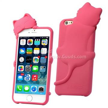 Der hello deere 3d diffie cat silicone case for iphone 6 for Case 3d online
