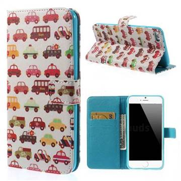 Cute cars wallet leather case for iphone 6 plus 5 5 inch