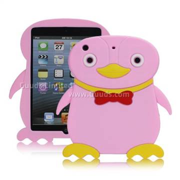 3d cute penguin rubberized soft silicone case for ipad for Case 3d online