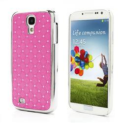 Shiny Starry Sky Rhinestone Hard Electroplating Case for Samsung Galaxy S 4 IV i9500 i9505 - Pink