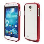 Ultra-Thin Premium Aluminium Metal Bumper Case for Samsung Galaxy S4 i9500 i9502 i9505 - Red