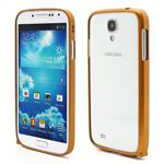 Ultra-Thin Premium Aluminium Metal Bumper Case for Samsung Galaxy S4 i9500 i9502 i9505 - Golden Yellow
