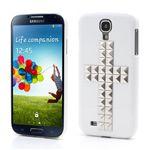 Silver Pyramid Cross Hard Case for Samsung Galaxy S4 i9500 i9502 i9505 - White