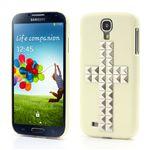 Silver Pyramid Cross Hard Case for Samsung Galaxy S4 i9500 i9502 i9505 - Beige