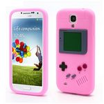 Game Boy Silicone Skin Case for Samsung Galaxy S 4 IV i9500 i9505 - Pink