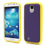 Dual-Color Soft Silicone Case for Samsung Galaxy S4 i9500 i9502 i9505 - Yellow / Purple