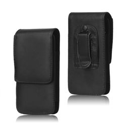 Belt Clip Leather Pouch Case for Samsung Galaxy S4 i9500 i9505 S3 i9300 - Black
