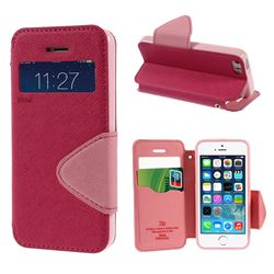 Roar Korea Diary View Window Leather Case for iPhone 5s / iPhone 5 - Rose