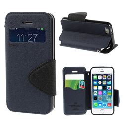 Roar Korea Diary View Window Leather Case for iPhone 5s / iPhone 5 - Dark Blue