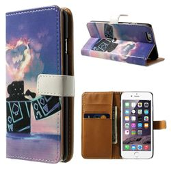 Poker Leather Wallet Case for iPhone 5s / iPhone 5
