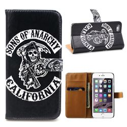 Sons of Anarchy Leather Wallet Case for iPhone 5s / iPhone 5