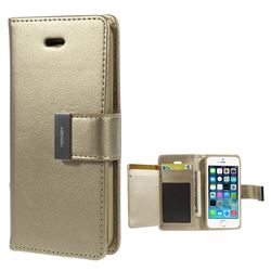 Mercury Rich Diary Leather Flip Cover for iPhone 5s / iPhone 5 - Champagne