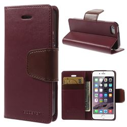 Mercury Sonata Diary Series Glossy Leather Flip Cover for iPhone 5s / iPhone 5 - Wine Red