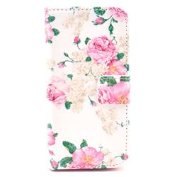 Chinese Rose Leather Flip Wallet Case Cover for iPhone 5s / iPhone 5