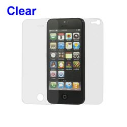 Clear Front and Back LCD Screen Protector for iPhone 5