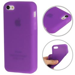 Soft Silicone Case for iPhone 5c - Purple