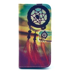 Sunset Dream Catcher Leather Flip Wallet Case Cover for iPhone 5c