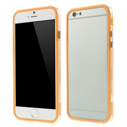 Intermediate Transparent PC & TPU Hybrid Bumper for iPhone 6 (4.7 inch) - Orange