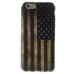 Vintage USA Flag TPU Back Cover for iPhone 6 (4.7 inch)