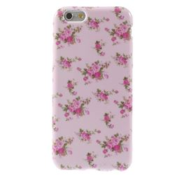 Pink Rose TPU Back Cover for iPhone 6 (4.7 inch)