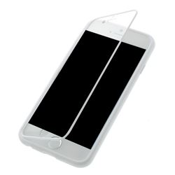 TPU Flip Cover for iPhone 6 (4.7 inch) with Transparent PC Screen Cover  - White