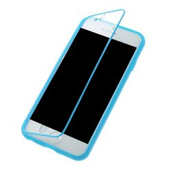 TPU Flip Cover for iPhone 6 (4.7 inch) with Transparent PC Screen Cover  - Blue