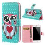 Lovely Owl Leather Cover for iPhone 6 (4.7 inch)