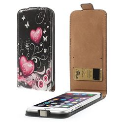 Hearts Butterflies Pattern Vertical Leather Flip Case for iPhone 6 (4.7 inch)