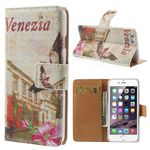Cross Pattern Painted Leather Wallet Flip Cover for iPhone 6 (4.7 inch) - Venezia