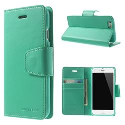 Mercury Sonata Diary Series Glossy Leather Flip Cover for iPhone 6 (4.7 inch) - Cyan