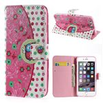 Flower Wallet Leather Flip Cover for iPhone 6 (4.7 inch)