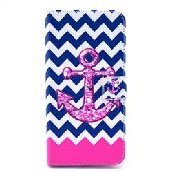 Anchor Chevron Leather Wallet Case for iPhone 6 (4.7 inch)