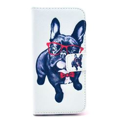 My Cute Dog Leather Wallet Case for iPhone 6 (4.7 inch)
