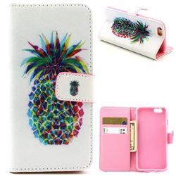 Big Pineapple Leather Wallet Case for iPhone 6 (4.7 inch)