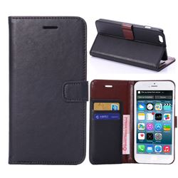 Crazy Horse PU Leather Case for iPhone 6 Plus (5.5 inch) - Black