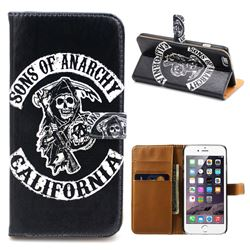 Sons of Anarchy Leather Wallet Case for iPhone 6 Plus (5.5 inch)