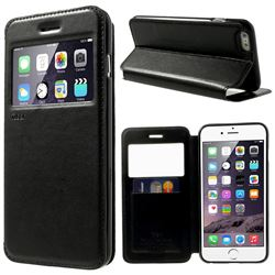 Roar Korea Noble View Window Leather Case for iPhone 6 Plus (5.5 inch) - Black